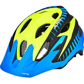 Alpina Carapax Flash Helmet Juniors blue-yellow-black